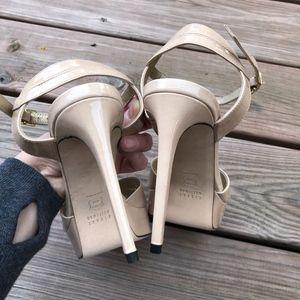 Stuart Weitzman Shoes - STUART WEITZMAN Nexus Platform Patent Sandals Heel